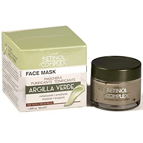 Mascarilla Facial de Arcilla Verde  Exfoliante pepino, eucalipto malva y caléndula  Limpieza Profunda del rostro  Purificante y tonificante  50 ml