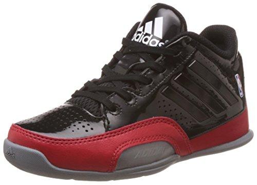 adidas 3 Series 2015 NBA K - Zapatillas para niño, Color Negro/Gris/Rojo, Talla 38 2/3