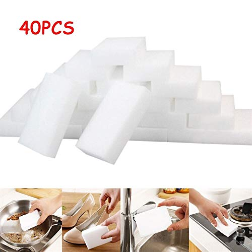 Esponjas mágicas 40 / 45Pcs magia blanca borrador de la esponja de limpieza de espuma de melamina Cocina almohadilla de esponja estupendo nano Descontaminación Zapatos Placa Wipe Para marcas y quitama