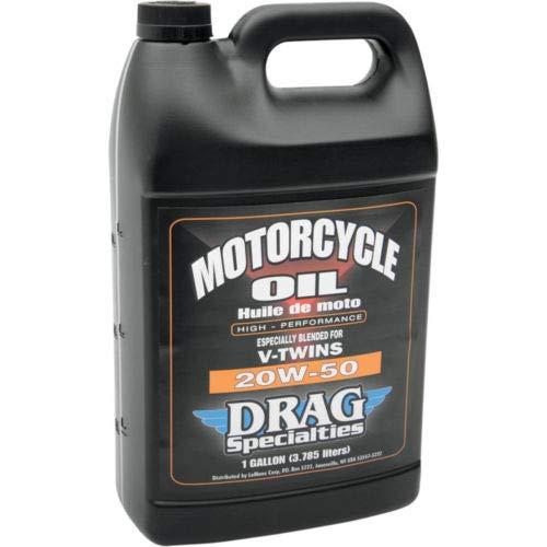 Bidón de 4 litros de aceite para motor original Drag Specialties 20W-50 mineral, para motores de moto Harley Davidson Genuine