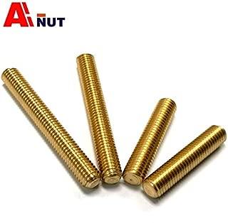 Ochoos m8 m10 m12 m14 m16 Brass Thread Rod, Full Threaded Bolt, Waterproof Threaded Rod Screw, Brass Fasteners - (Dimensions: M14x50-5pcs)