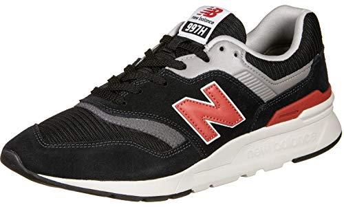 New Balance 997 Sneaker Herren Schwarz/Rot - 40 - Sneaker Low