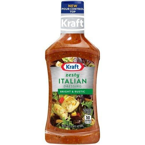Kraft Zesty Italian Dressing 16 Ounces (Pack of 3)