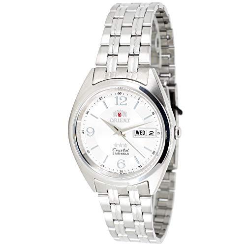 Orient Unisex Erwachsene Analog Automatik Uhr mit Edelstahl Armband FAB0000EW9