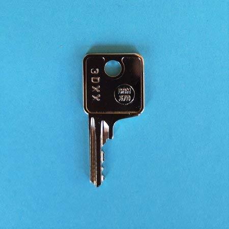 Ersatzschlüssel Serie 3D für Brink Anhängerkupplungen (AHK/AHV). Schlüssel 3D - Code 37