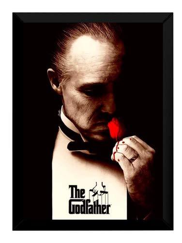 Quadro Filme O Poderoso Chefão Arte Poster Moldurado