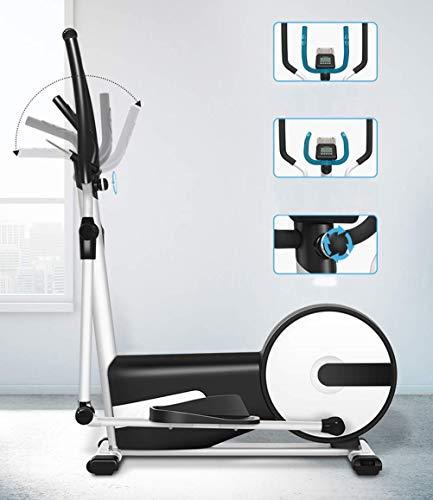 Cross Trainer, 3 in 1 Attrezzatura per Il Fitness Indoor a Controllo Magnetico, 24 Marce, braccioli Regolabili, Regolazione Multi-Angolo, Gradino Confortevole di 42 cm