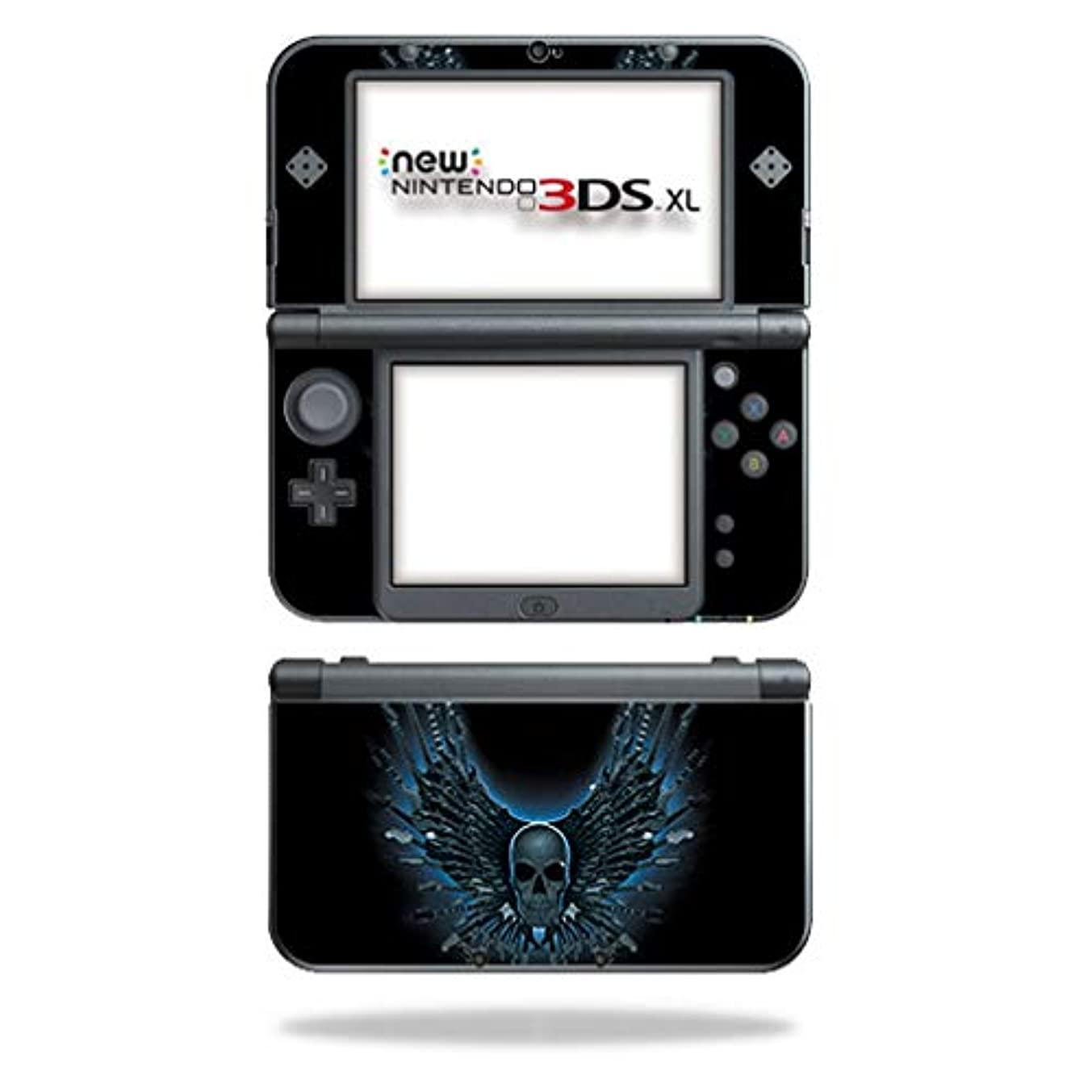 MightySkins Skin Compatible with Nintendo New 3DS XL (2015) - Skull Strings | Protective, Durable, and Unique Vinyl Decal wrap Cover | Easy to Apply, Remove, and Change Styles | Made in The USA