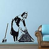 YuanMinglu Street Art Vinyle Banque Femme de ménage Moule Graffiti Femme de ménage...