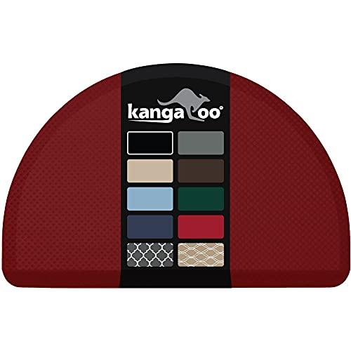 Kangaroo Originele commerciële kwaliteit staande mat halve cirkel keuken tapijt, anti-vermoeidheid comfort vloeren, ftalaat vrij, niet-toxisch, waterdicht, salon, tapijten voor kantoor staan op bureau, halve ronde, rood