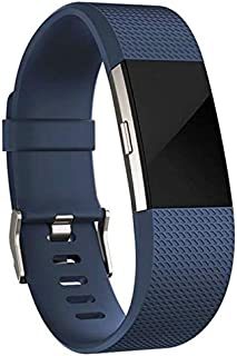 Dark Blue - For Fitbit Charge 2 Sport Silicone Strap Smart Watch Band