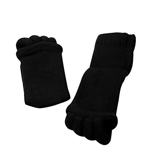 Zehenspreizer Socken, Zehenlose Socken Schmerzlinderung Verbessert die Durchblutung Fußausrichtungssocken für Yoga Fitnessstudio Massage Socken für Damen Herren