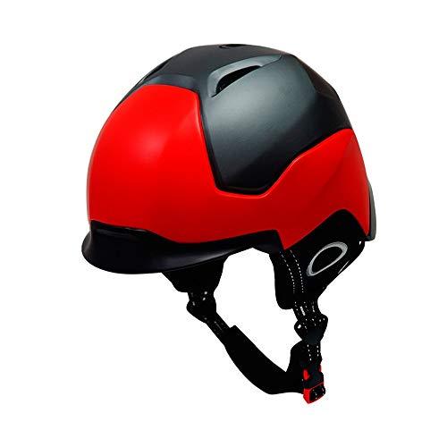 Zyklus-Fahrrad-Helm Kinder und Jugend Ski-Helm Skateboard Helm Einstellbare Multisport Helme mit mit Abnehmbarer Innenpolsterung MDYHJDHYQ (Color : Rot, Size : Kostenlos)