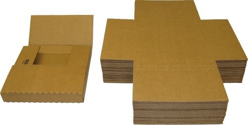 7 45RPM Vinyl Record Shipping Mailers - Adjustable Multi-Depth Kraft Brown - Holds 1 to 12 7 Vinyl Records #07BC01VD (Qty: 25)