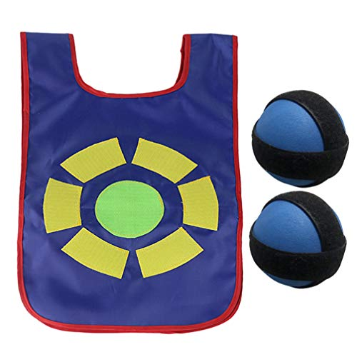 Wakauto 1 Set Sticky Ball Vest Durable Portable Round Sticky Target Vest Ticky Vest Game Props Sticky Ball Costume for Kids Children Parents