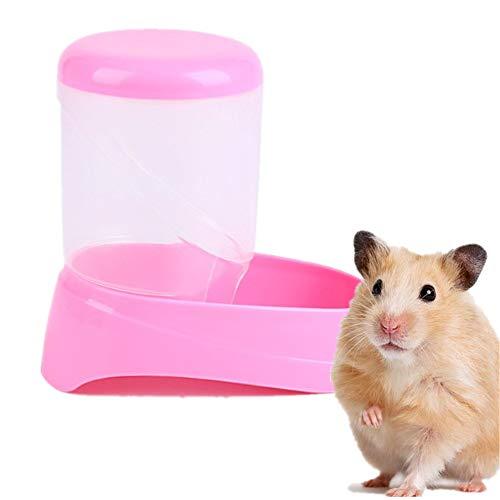 Yagoal Comedero Automatico Comederos Cobaya Conejo dispensador de Comida Suministros para Mascotas Animales pequeños Conejo de la Comida Pink