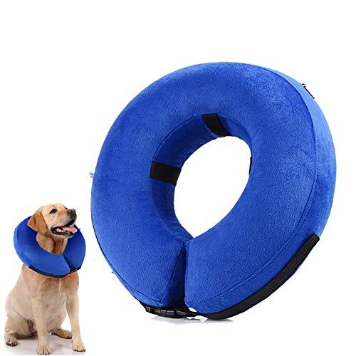 YAMI Collare Cane Protettivo Gonfiabile Collare Regolabile per Il Recupero di Animali Domestici da Interventi Chirurgici e ferite (L)