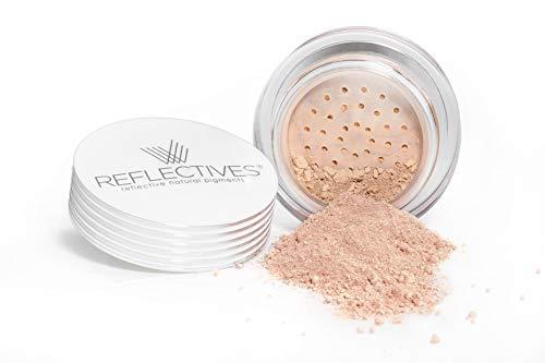 REFLECTIVES MINERAL MAKE-UP PUDER - reine, natürliche Powder Make up Foundation mit ausgezeichneter Deckkraft für einen frischen makellosen Teint im Gesicht und Hals (neutral - hell)