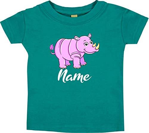 Bébé Kids-T, Rhino Rhino avec Nom Souhaité Animal Animal Nature - Royal, 18-24 Monate