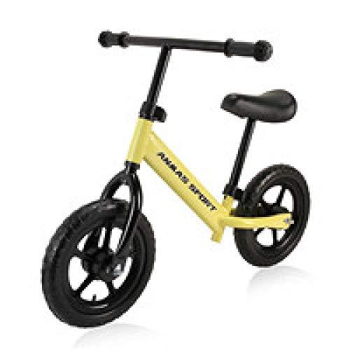 YSCYLY Vespa De Los NiOs,12 Pulgadas para nios Bebs y nios pequeos 18 Meses a 5 aos Aprenda a Caminar,Sin Pedal De Ruta Equilibrio Entrenamiento De La Bicicleta