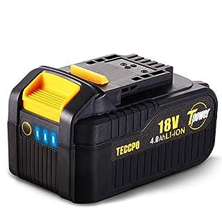 scheda teccpo professional 18v 4.0ah batteria ricaricabile al litio, batteria di ricambio per tutti teccpo&popoman strumenti da 18v senza fili - tdbp04p