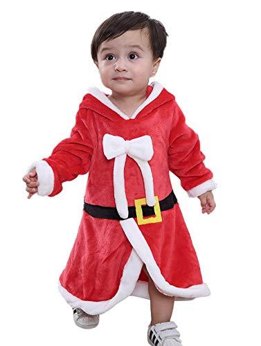 DEMU kind baby Kerstman kostuum jurken jumpsuit speelpak hooded strampler