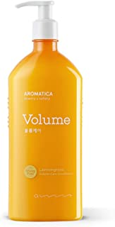 AROMATICA Lemongrass Volume Care Conditioner 13.53oz / 400ml, Silicone Free, Sulfate Free, Vegan