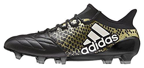 adidas Herren X 16.1 FG Leather Fußballschuhe, Schwarz (Negbas/Ftwbla/DORMET), 42 2/3 EU
