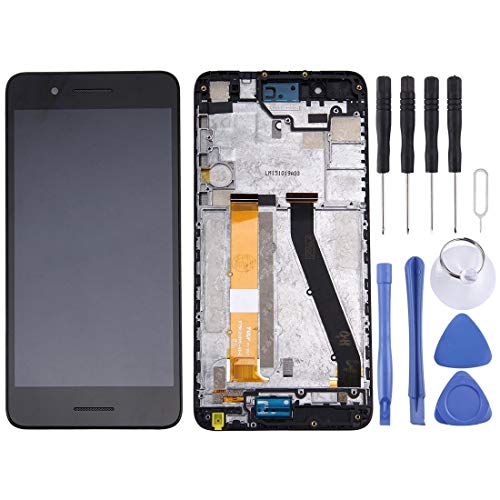 HUAAT -LCD Screen and Digitizer Full Assembly with Frame for HTC Desire 728 (Black) DIY (Color : Black)