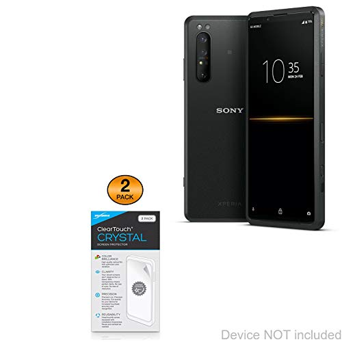 protector for xperia Screen Protector for Sony Xperia PRO (Screen Protector by BoxWave) - ClearTouch Crystal (2-Pack), HD Film Skin - Shields from Scratches for Sony Xperia PRO