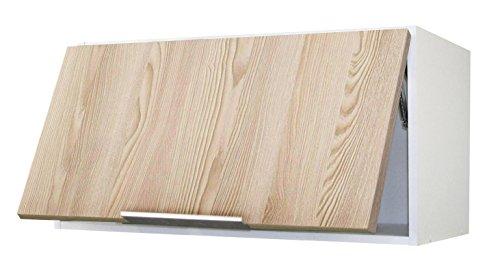 Berlioz Creations Subwoofer hoogwaardige keuken op afzuigkap 80, met folie beklede spaanplaat, as gezandstraald, 80 x 34 x 35 cm