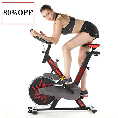 Great Deal! UAMSISTE Exercise Cycling Bike,Adjustable Exercise Bike, Stationary Bike,with Heart Rate...