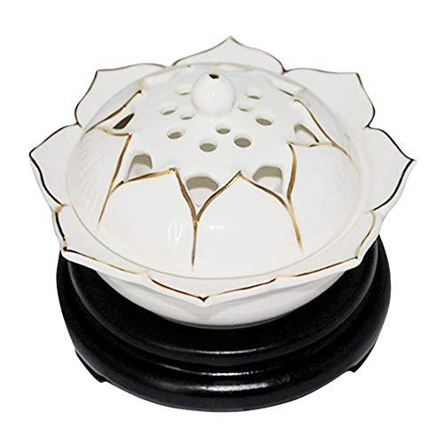 UNU_YAN El Tiempo de Control de Temperatura Quemador de Incienso, aromaterapia electrónicos de cerámica del Horno, Madera de agar Aceite Esencial eléctrica difusor Inicio de Porcelana,