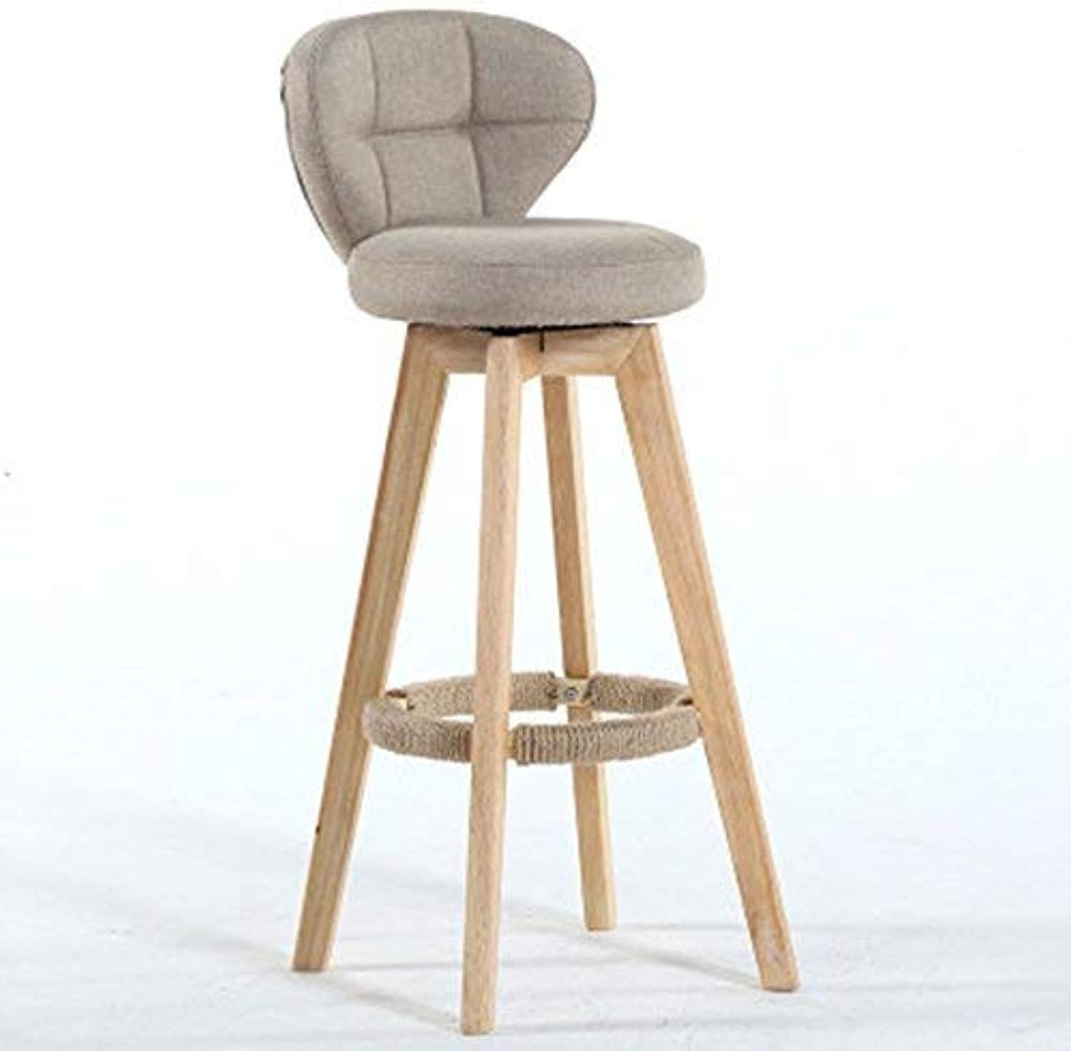 YZH Bar Stool High Wooden Chair, Living Room Reception   Beauty Salon Barber Shop Fashion Chair Stool