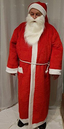 Ramona Lippert Nikolausmantel mit Mütze und Kordel Plüsch, Nikolaus, Plüschmantel, Weihnachtsmann, Nikolauskostüm, Kostüm
