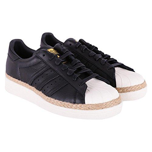adidas Originals Superstar 80S New Bold W, Core Black-Core Black-Off White, 5