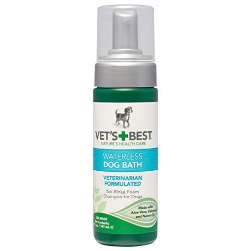 Vet\'s Best Waterless Hundebad | Kein Spülen trockenes Shampoo für Hunde | Natürliche Formel erfrischt Mantel und kontrolliert Geruch zwischen Bädern,147ml