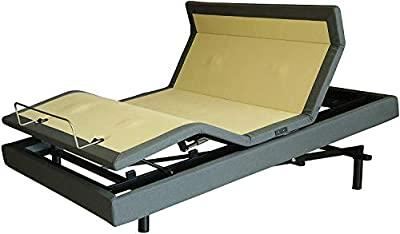 "DynastyMattress New! D7500s Adjustable Bed, Elevation Lift, Quad Massage, Underbed Light, USB Port, Zero Gravity (Twin XL, 14.5"" Plush CoolBreeze Gel Mattress)"