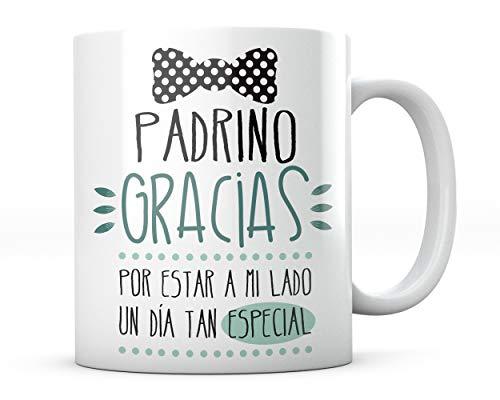 PANISCUS Taza para Regalar Padrino Gracias por Estar a mi Lado Regalo para Amigo Boda Matrimonio Celebración