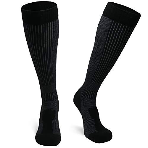 DANISH ENDURANCE Lange Merino Outdoor-Socken mit Zecken- und Mückenschutz 1 Paar (Schwarz, EU 43-47)