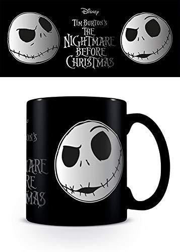 The Nightmare Before Christmas FMG24989 Mug céramique finition aluminium 315ml / 11oz - L'Étrange Noël de monsieur Jack, Noir et Blanc