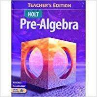 Pre-Algebra (Holt Pre-Algebra) 0030386888 Book Cover