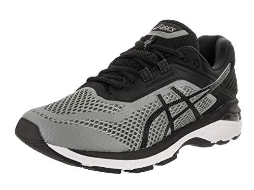 ASICS Men's GT-2000 6 (2E) Running Shoes, 12W, Stone Grey/Black/White