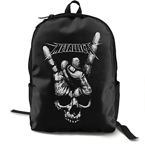 N / A Metallica Paket Klassischer Rucksack Schultasche Schwarze Tasche Arbeitsreise Zur Polyester Unisex Schule