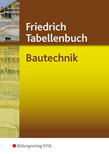 Friedrich Tabellenbuch, Bautechnik
