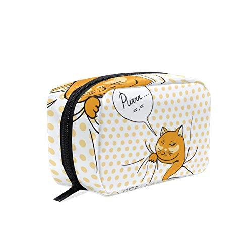 LiuBT - Neceser para maquillaje de viaje con diseño de gato espía