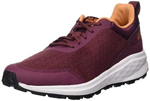 Jack Wolfskin Damen Coogee LITE Low W Sneaker, Burgundy/apricot, 40.5 EU