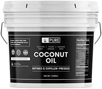 100 Refined Coconut Oil 1 Gallon Hexane Free Gluten Free Expeller Pressed Non Hydrogenated Vegan product image
