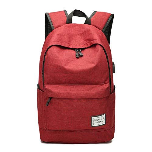 CMZ Rucksack Herren Rucksack mit großer Kapazität Einfache USB-Aufladung Multifunktionsrucksack Casual Student Schoolbag