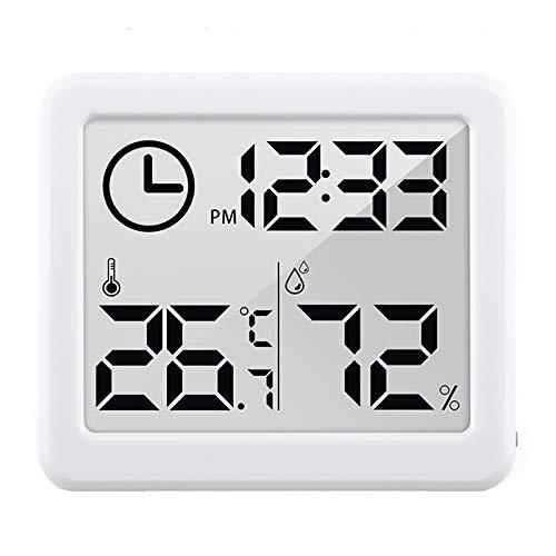 AYYSHOP Estación meteorológica multifunción, termómetro inalámbrico para interiores y exteriores, con pantalla LCD retroiluminada, indicador de humedad ideal para monitoreo de previsión meteorológica